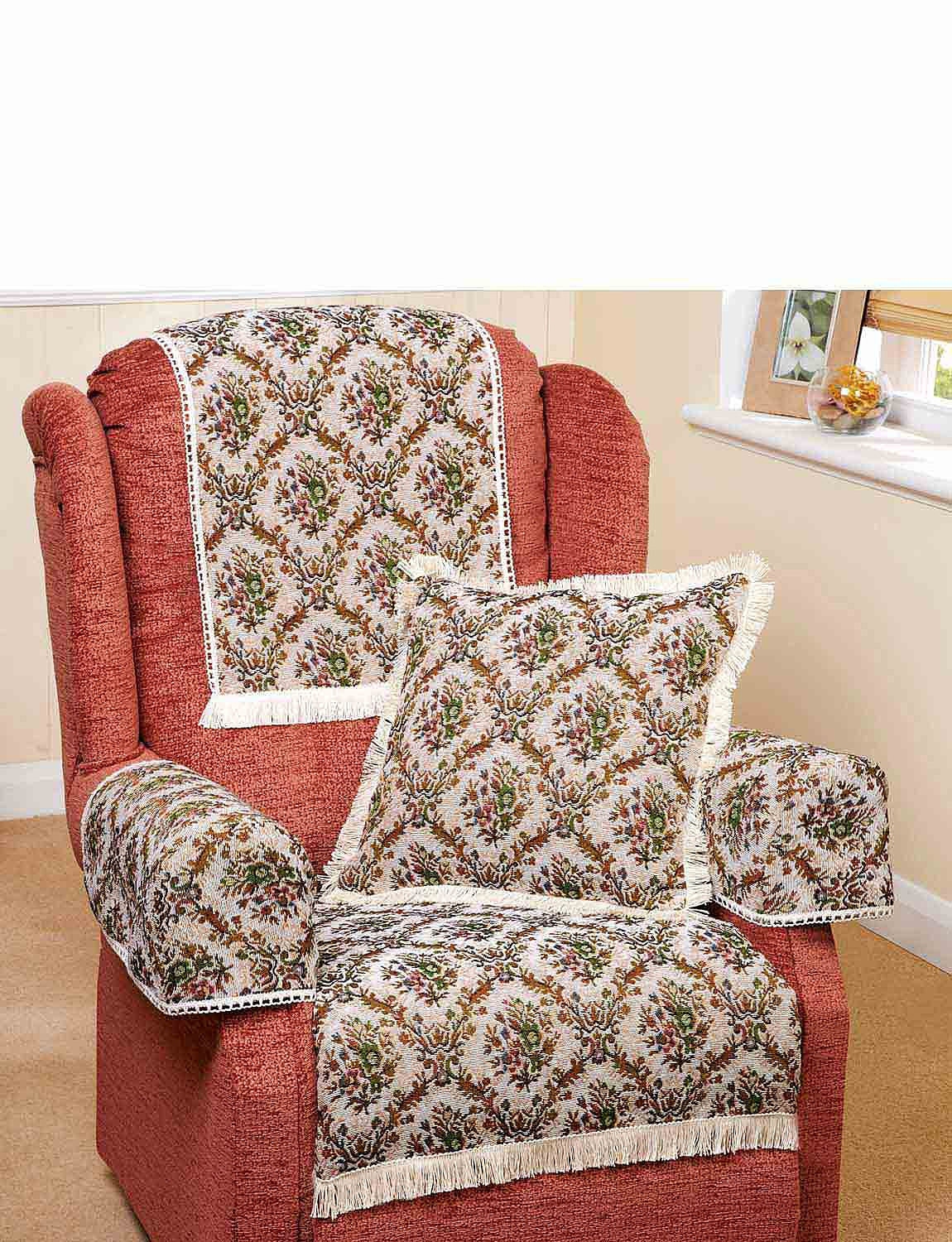 Trellis Irish Tapestry Furniture Accessories - MULTI