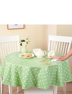 WIPE-CLEAN VINYL PVC TABLECLOTHS-Polka Dot