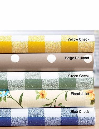 Wipe-Clean Vinyl PVC Tablecloths Juliet Floral
