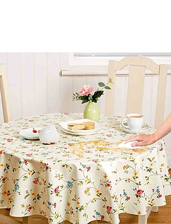 Wipe Clean Vinyle PVC Tablecloths in Juliet Floral