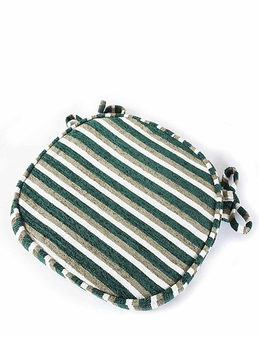 Stripe Chenille Dining Seat Pads