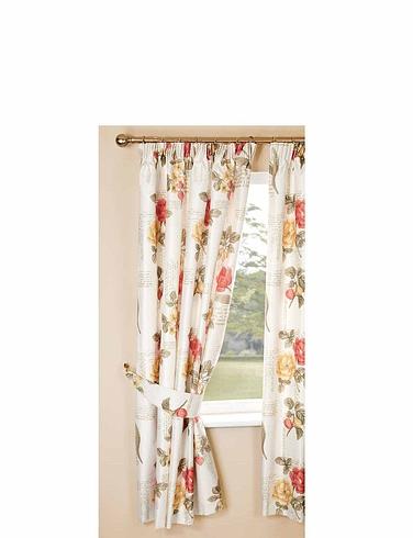 Fleur Faux-Silk Thermal Blackout Curtains