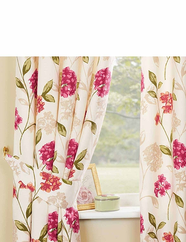Bouquet Lined Panama Curtains