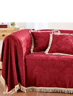 Damask Furniture Chair Throw