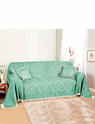DAMASK FURNITURE THROWS-3-SEATER SET