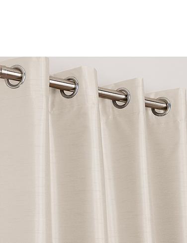 Faux-Silk Blackout Curtains-Eyelet Heading