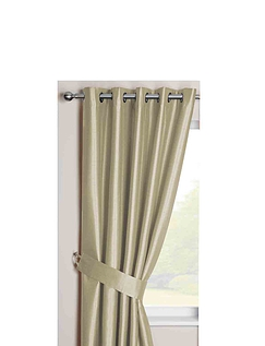 Faux Silk Blackout Curtains with Eyelet Heading
