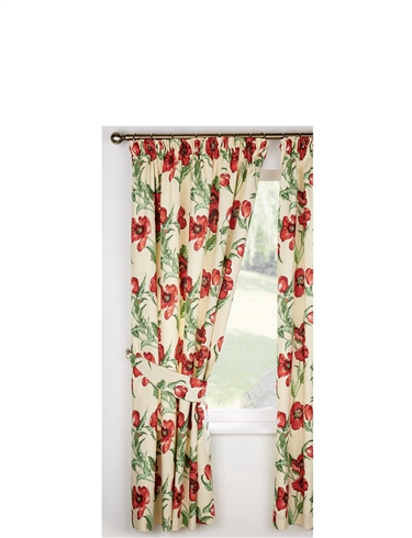 POPPY LINED CURTAINS