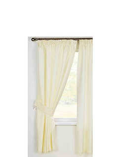 Daisy Lined Voile Curtains