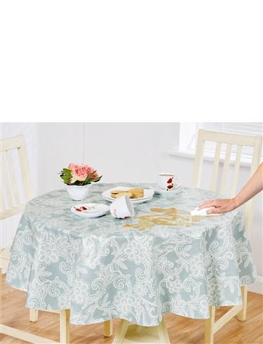 Lace Print Vinyl Tablecloth