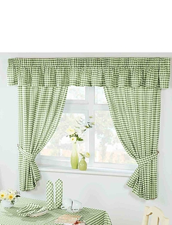 Country Gingham Kitchen Curtains