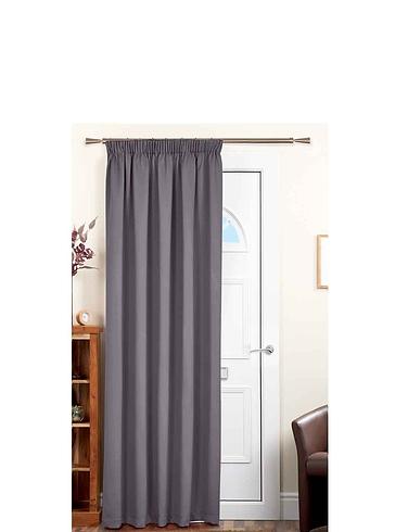 Plain Satin Blackout Door Curtain