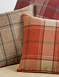 Highland Check Faux-Wool Lined Eyelet Curtains