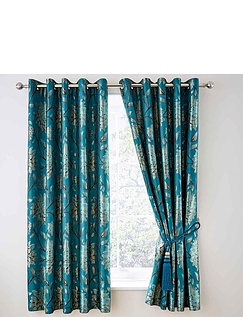 Eliane Heavyweight Jacuard Eyelet Curtains