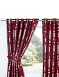 Elanie Heavyweight Jacquard Eyelet Curtains