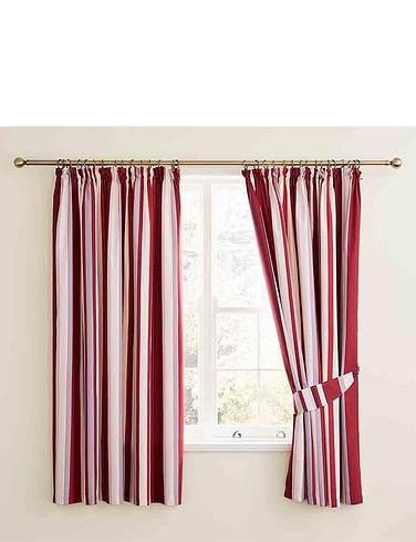 Hampton Stripe Lined Curtains