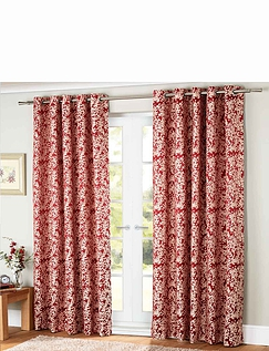 Orla Jacquard Lined Eyelet Curtains