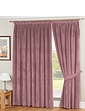 Lined Velour Curtains And Tie-Backs