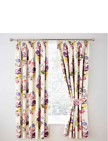Floral Bouquet Thermal Lined Blackout Curtains