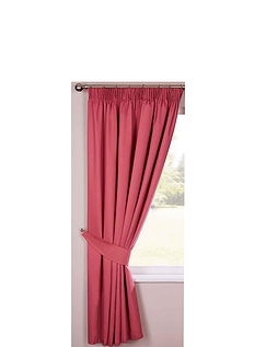 Lined Plain Satin Curtains