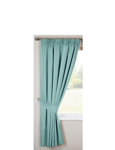 Lined Plain Satin Curtains