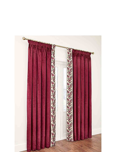 Velvet Rose Lined Curtains