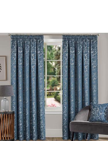 Buckingham Lined Damask Curtains