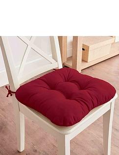 Cotton Twill Dining Chair Cushion Pair