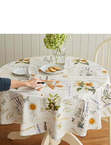Herbs Wipe Clean Vinyl PVC Tablecloth