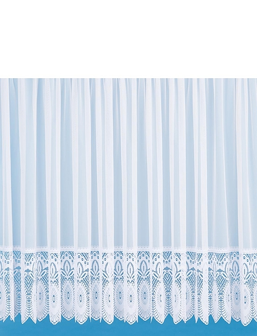 Lillian Made To Measure Lace Trimmed Curtains By The Yard