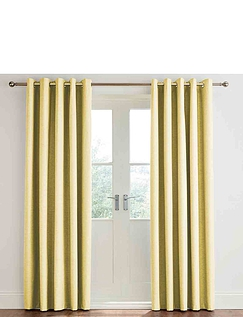 Libby Linen Blackout Eyelet Curtains