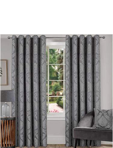 Pippa Eyelet Damask Curtains
