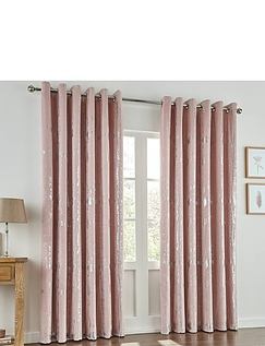 Margo Thermal Interlined Embossed Velvet Curtains