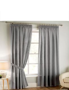 Pom Pom Lined Sheer Curtains
