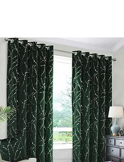 Emily Thermal Interlined Blackout Velour Curtains
