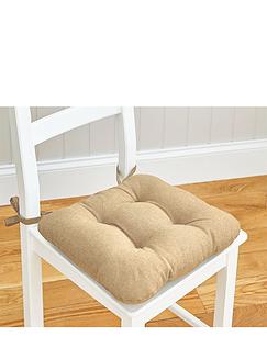 Linen Look Seat Pad