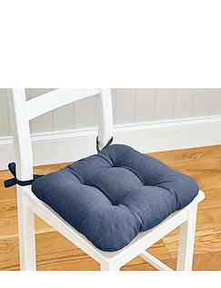 Linen Look Seat Pad Set of 4