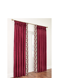 Velvet Rose Lined Curtains
