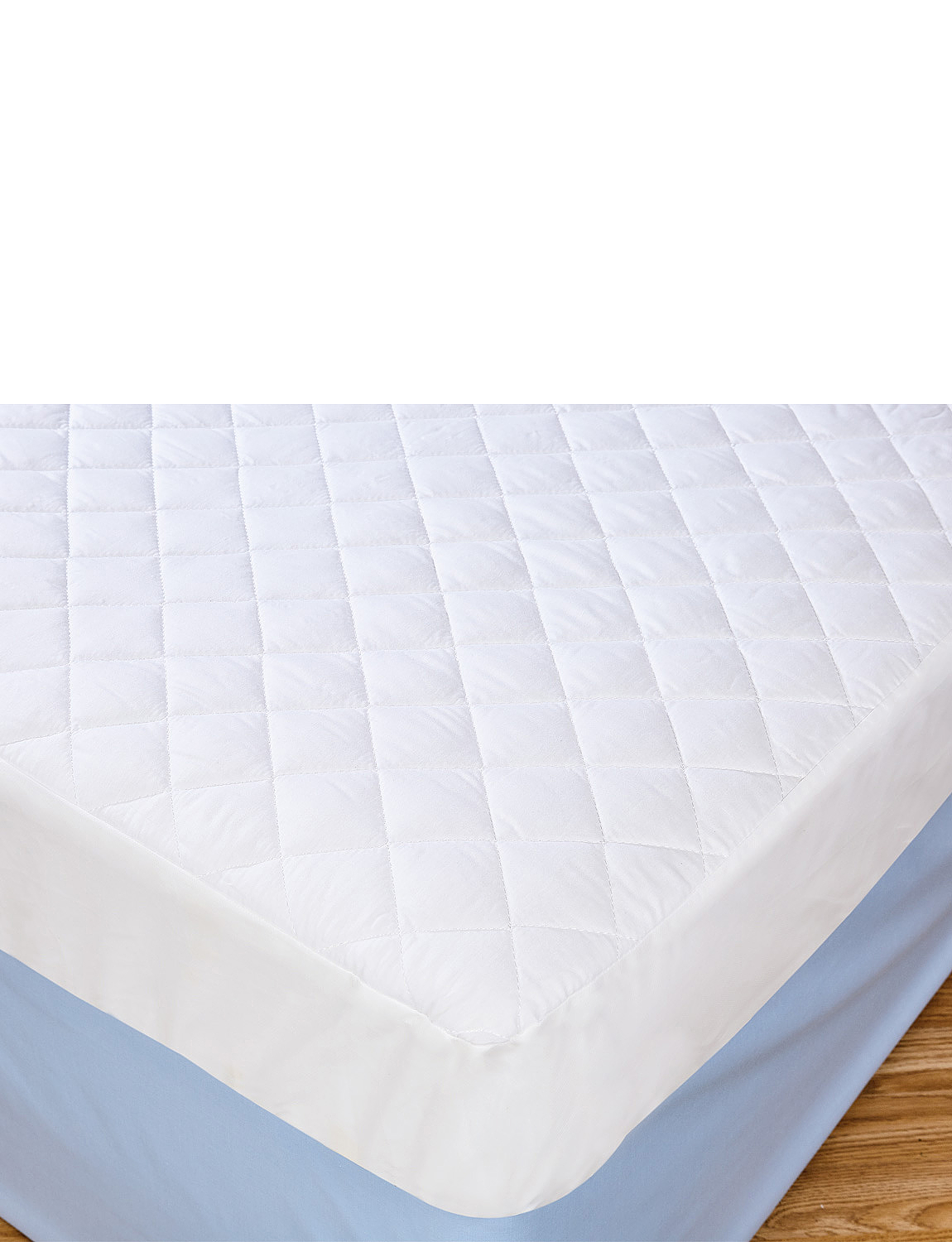 Waterproof Quilted Mattress Protector - White