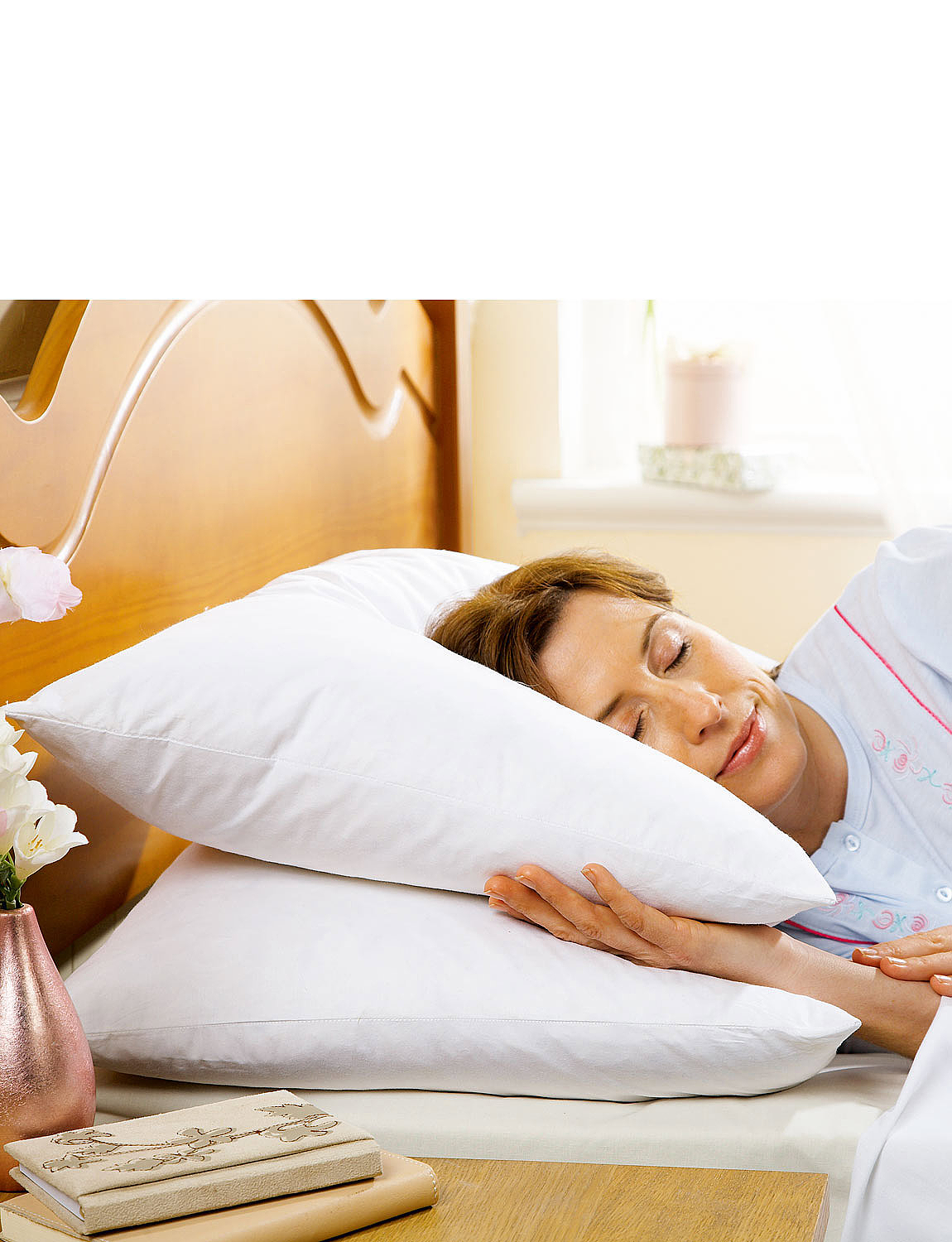 Goose Feather and Down Pillow Pairs - White