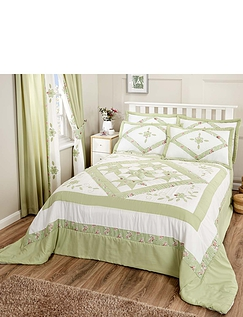 Alice Luxury Throwover Bedspread and Pillowshams