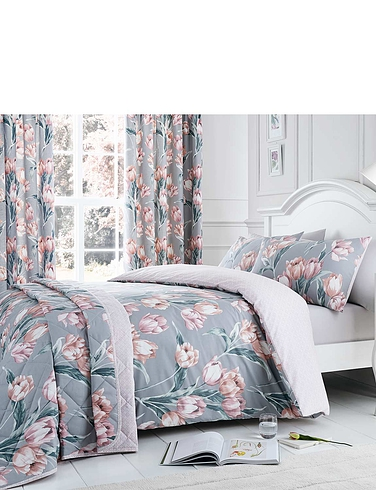Tulip Thermal Lined Blackout Curtains and Free Tie-Backs