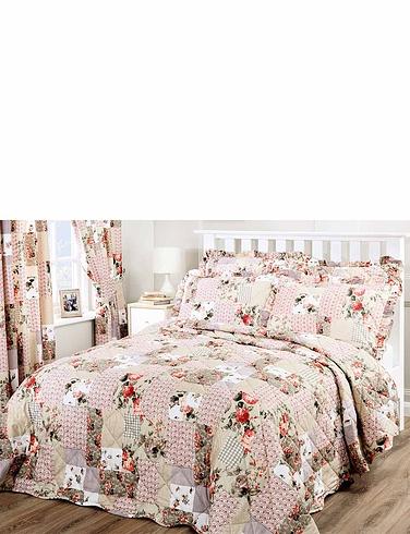 Ellen Quilted Throwover Patchwork Bedspread