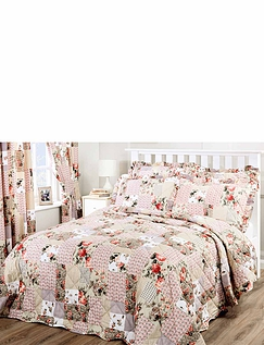 Ellen Quilted Throwover Patchwork Bedspread