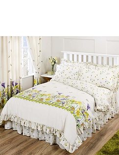 Bluebell Meadow by Belledorm Frilled Duvet Cover