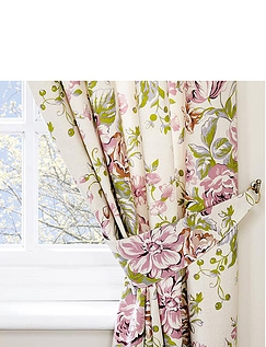 Rose Boutique Curtains With Free Tie Backs