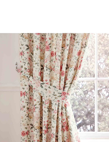 Summertide Luxury Frilled Lined Curtains + Free Tie Backs