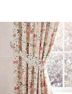 Summertide Luxury Frilled Lined Curtains Plus Free Tie Backs