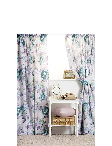 Melody Lined Curtains with Free tie-backs by Belledorm