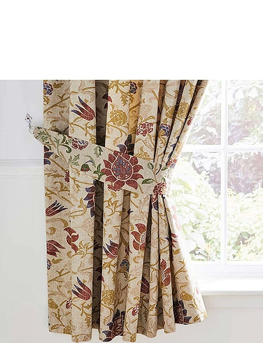 Galiana Collection Lined Curtains With Free Tie-Backs